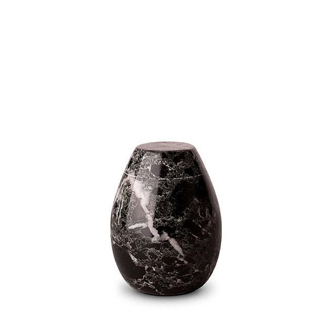 Mini Marmor Tierurne Schwarz-Weiß (0,15 Liter) Tierurnen
