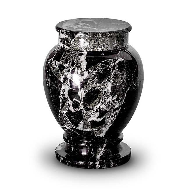 Große Marmor Tierurne Weiß-Schwarz (3,5 Liter) Tierurnen