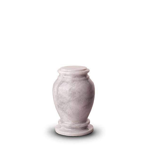 Mini Marmor Tierurne Grau-Weiß (0,15 Liter) Tierurnen