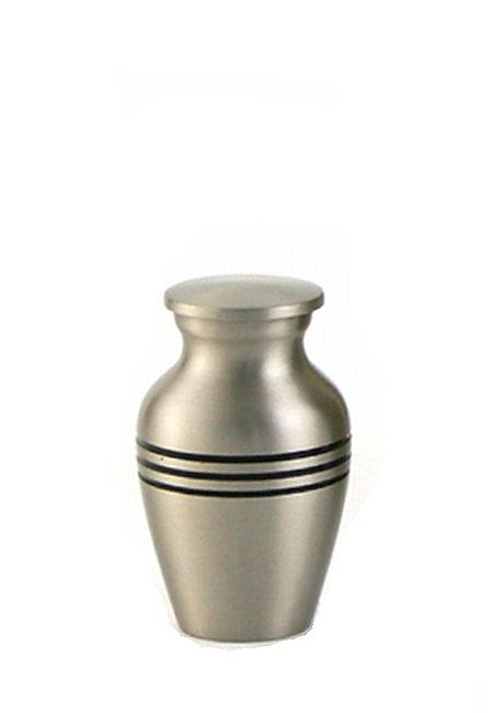 Klassisches Zinn Mini Tierurne (0,11 Liter) Kleine Urnen für Kleintiere