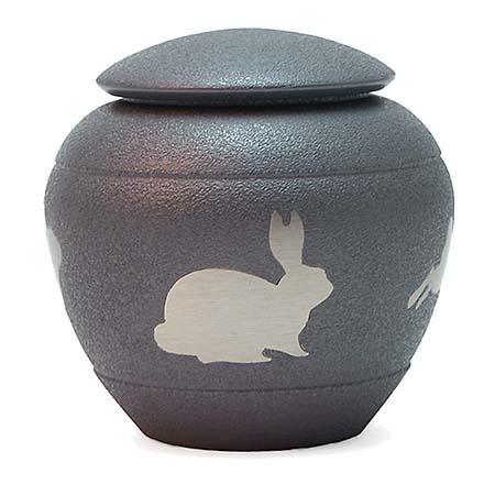 Silhouette Rabbit Shale Kaninchen Tierurne (0,5 Liter) Kaninchenurnen