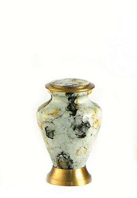 Glenwood White Marble Mini Tierurne (0,08 Liter) Kleine Urnen für Kleintiere