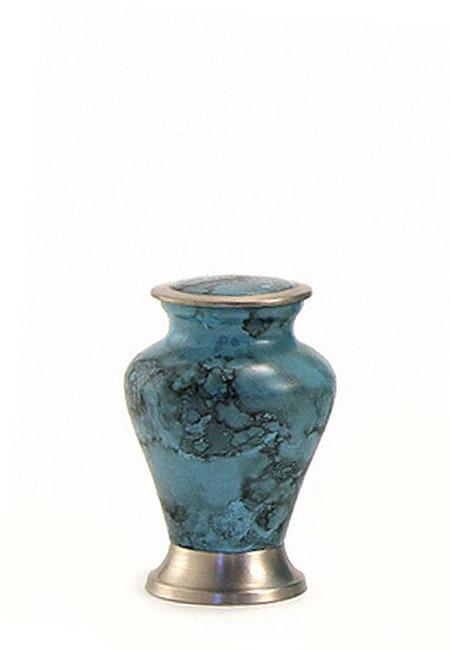 Glenwood Blue Marble Mini Tierurne (0,08 Liter) Kleine Urnen für Kleintiere