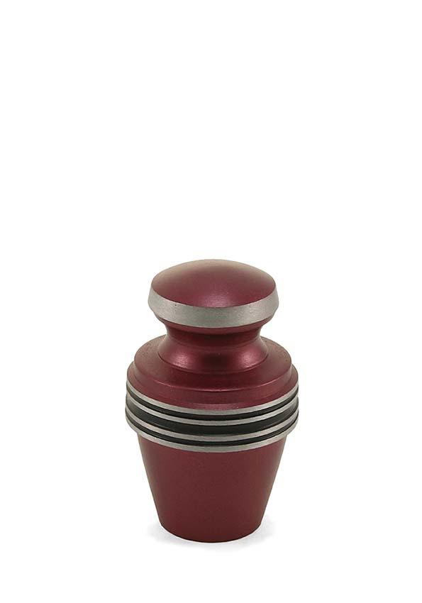 Griechische Magenta Mini Tierurne (0,08 Liter) Kleine Urnen für Kleintiere