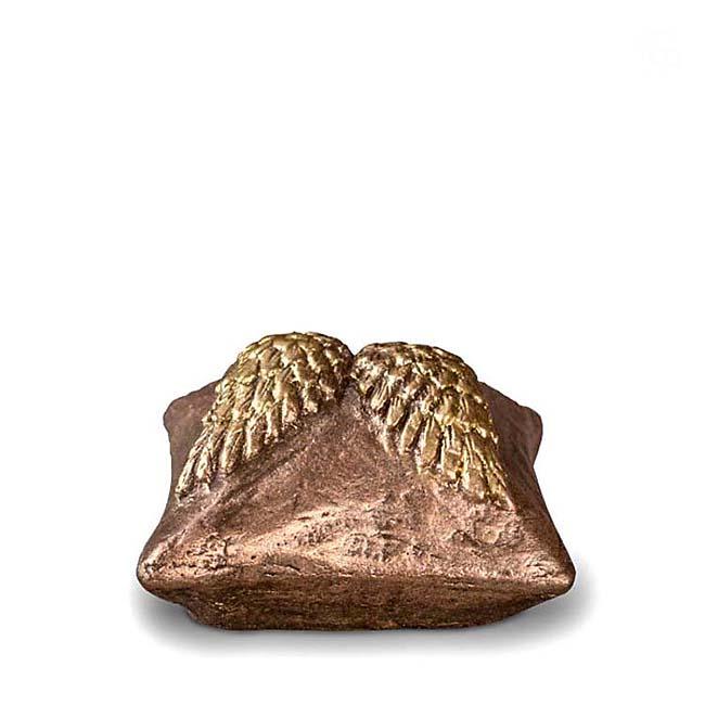 Komfort Mini Tierurne Himmelskissen (0,1 Liter) Kleine Urnen für Kleintiere zum Trost