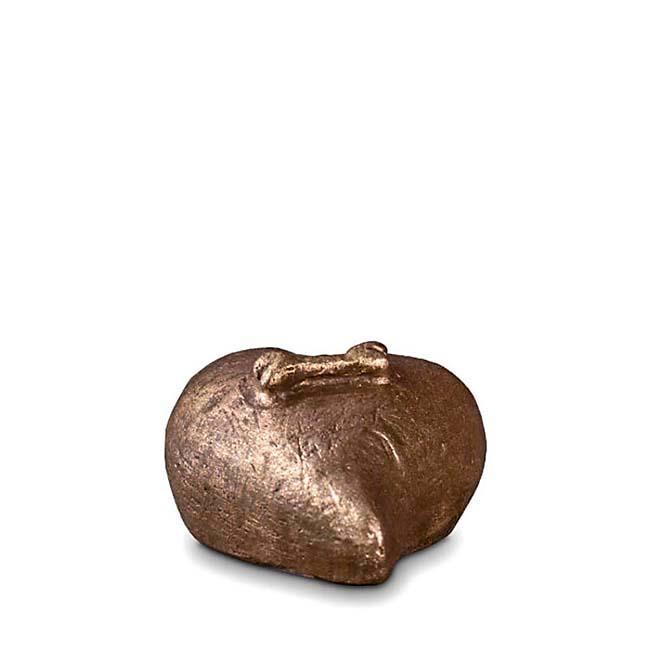Mini Komfort Hundeliebe Tierurne (0,1 Liter) Kleine Urnen für Kleintiere zum Trost