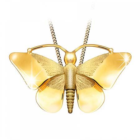 Anhänger Schmetterling Golden Ascheschmuck Tiere