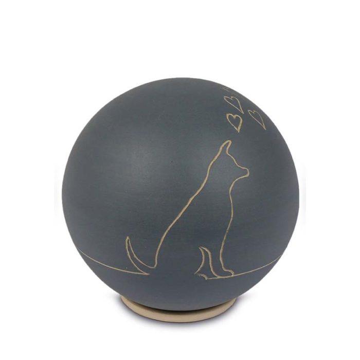 Keramische Kugel Tierurne Hund (0,75 Liter) Keramische Tierurnen