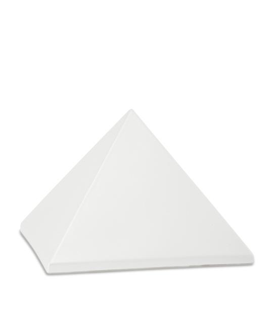 Mittelgroße Pyramide Tierurne Perlweiß (1,5 Liter) Pyramidenförmige Urnen Haustier
