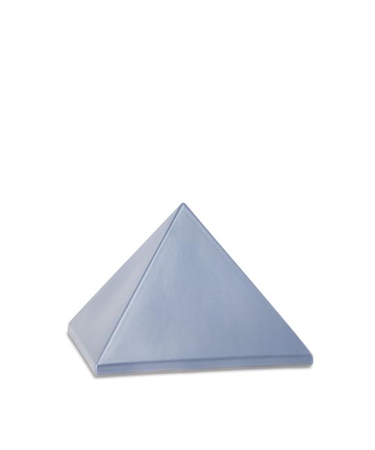 Kleine Pyramide Tierurne Stahlfarben (0,5 Liter) Pyramidenförmige Urnen Haustier