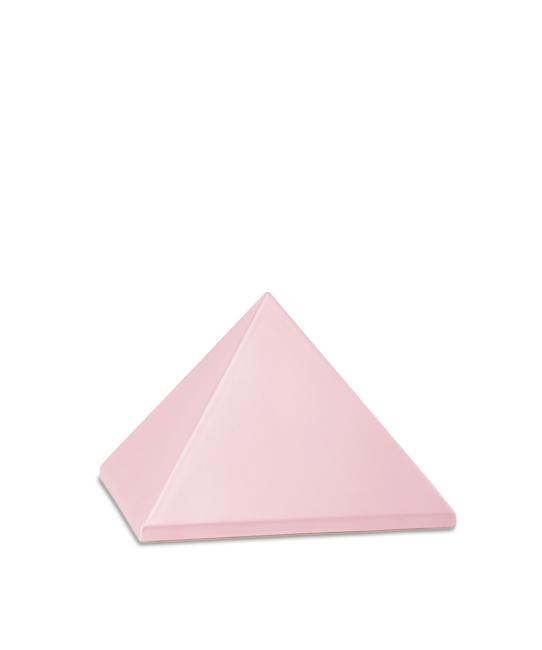 Kleine Pyramide Tierurne Pink (0,5 Liter) Pyramidenförmige Urnen Haustier