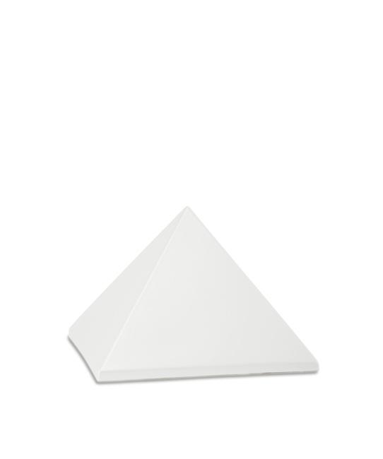 Kleine Pyramide Tierurne Perlweiß (0,5 Liter) Pyramidenförmige Urnen Haustier