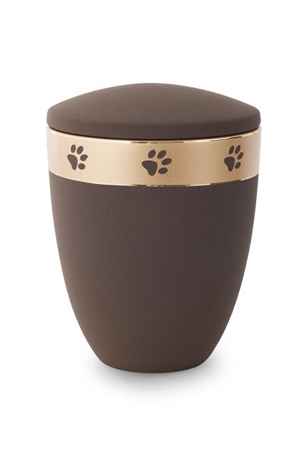 Große Keramische Tierurne Kaffee gefärbt (2,8 Liter) Tierurnen