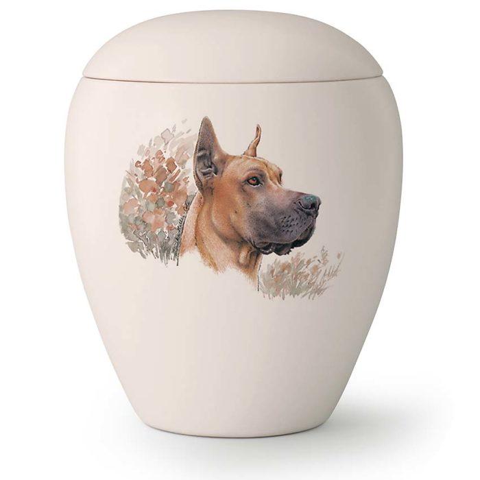 Große Hundeurne Deutsche Dogge Stehende Ohren (2,8 Liter) Hundeurnen