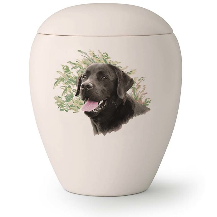 Große Hundeurne Keuchender Labrador (2,8 Liter) Hundeurnen