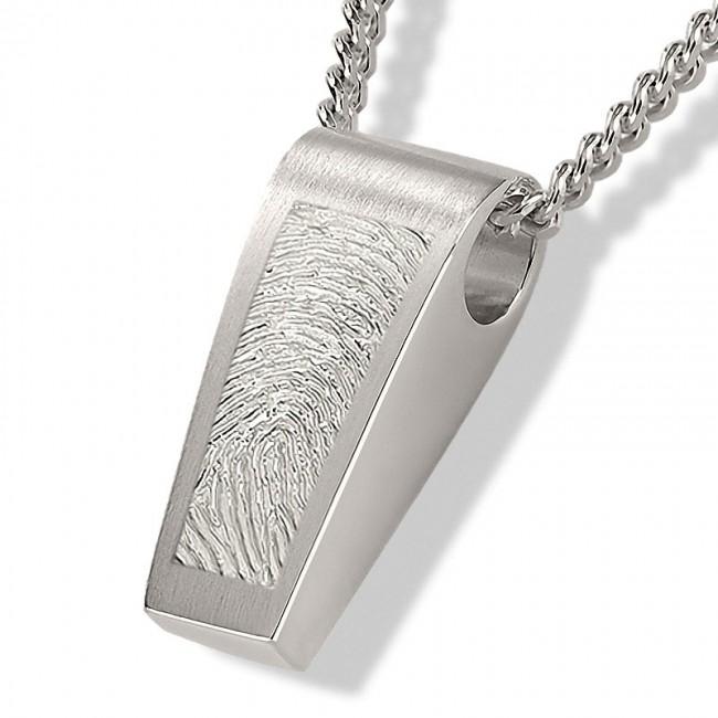 Fingerabdruck Ashanger Rechte Silber Asche Schmuck