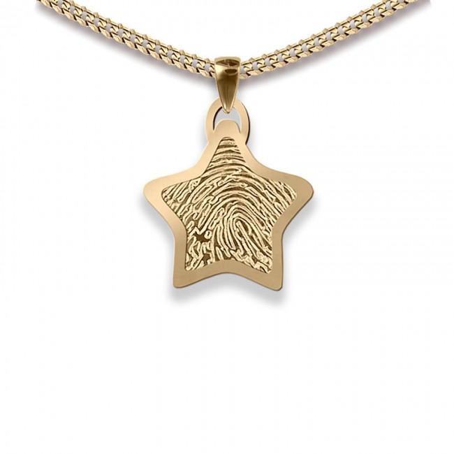 Dünner Stern Fingerabdruck Schmuck Gold Kleine Asche Schmuck