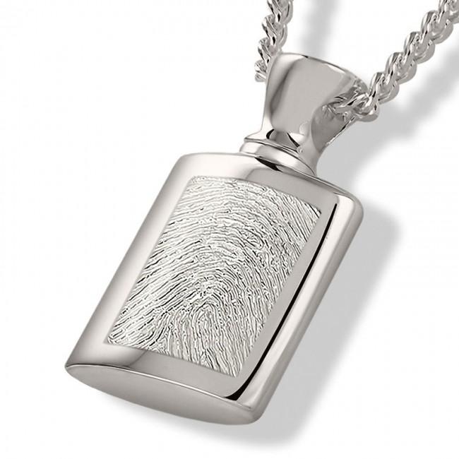 Fingerabdruck Ashanger Flasche Silber Asche Schmuck