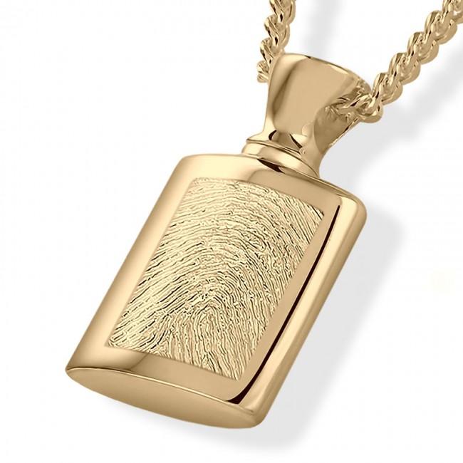 Fingerabdruck Ashanger Flasche Gold Asche Schmuck