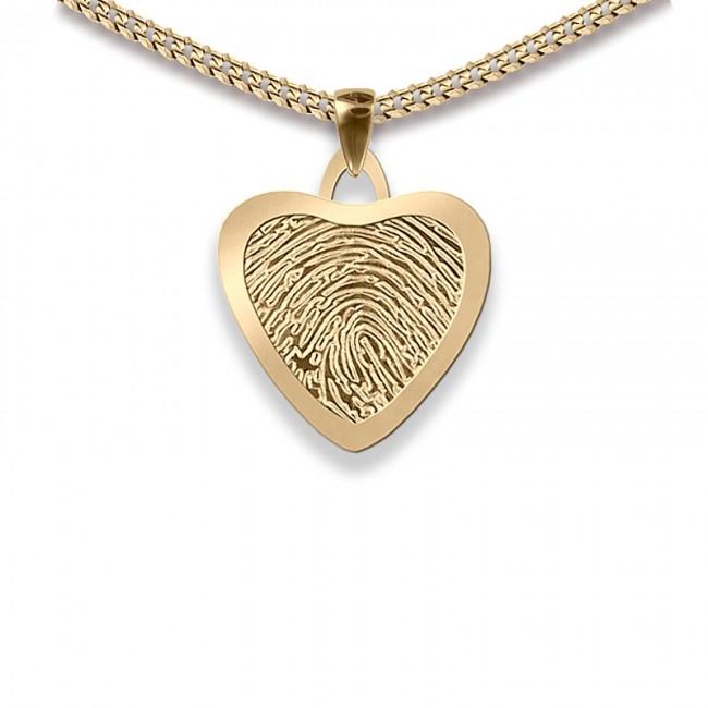 Dünner Kleine Herz Fingerabdruck Schmuck Gold Asche Schmuck