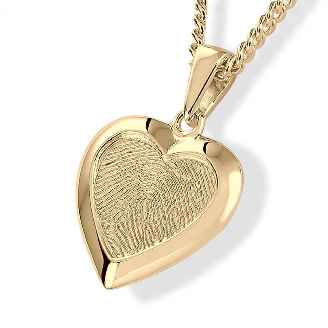 Herzförmiger Fingerabdruck Schmuck Gold Asche Schmuck