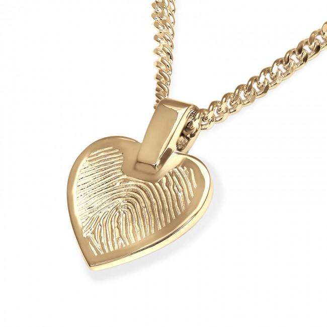 Herzförmiger Fingerabdruck Schmuck Gold – Kleine Asche Schmuck