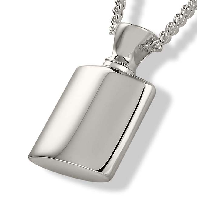 Asche Schmuck Fläschchen – Silber, inklusive Colliere Asche Schmuck