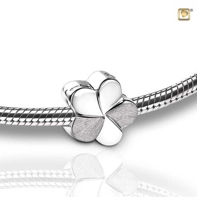 Askral Blume Zweifarbig Silber Asche Schmuck