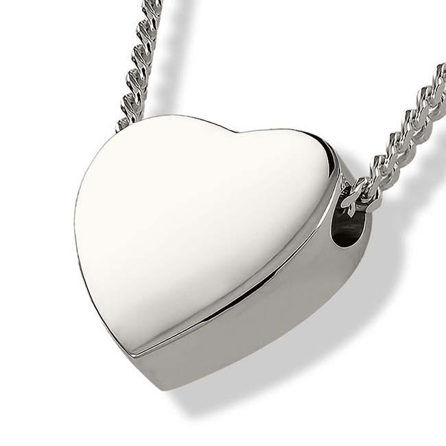 Achsbügel Herz Silber Asche Schmuck