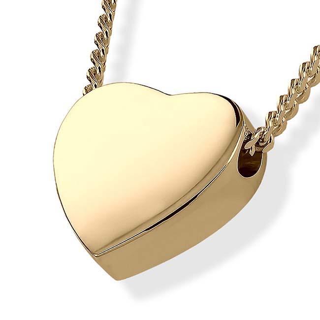 Asche Schmuck Herz – Gold, inklusive Colliere Asche Schmuck
