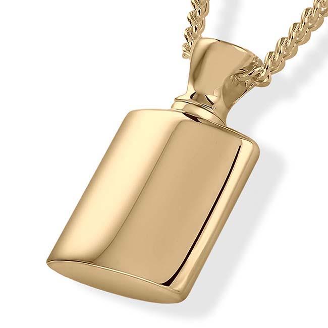 Asche Schmuck Fläschchen – Gold, inklusive Colliere Asche Schmuck