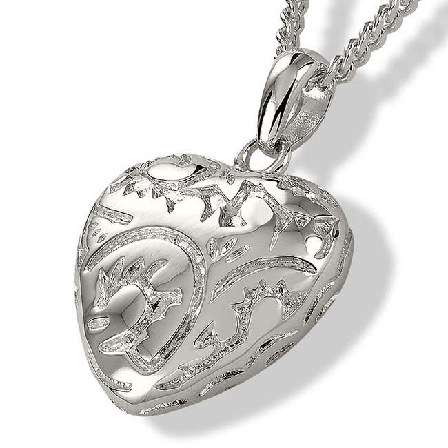 Achsbügel Barockisches Herz Silber Asche Schmuck
