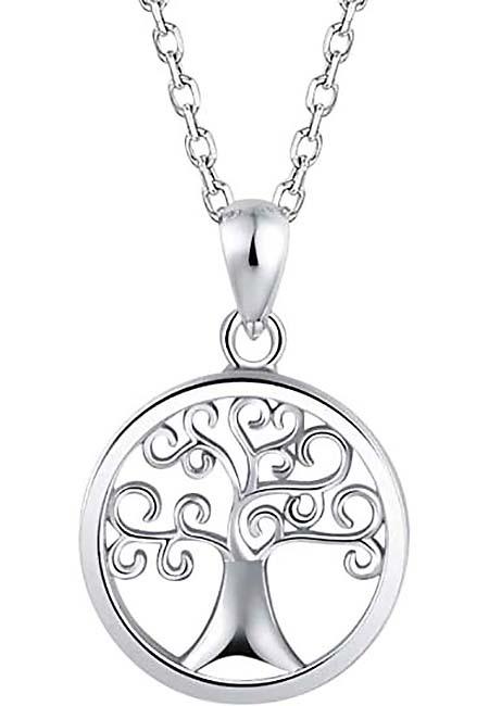 Asche Schmuck Baum des Lebens Silber Asche Schmuck