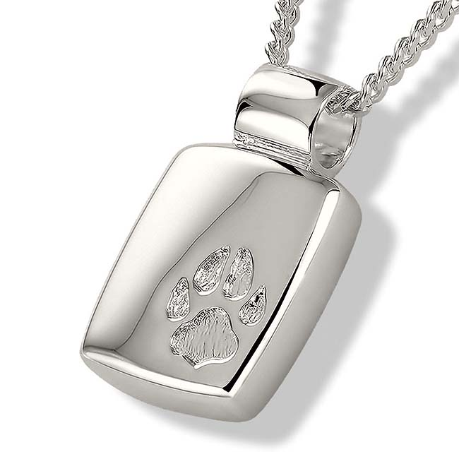 Asche Medaillon Pfotenabdrücke Silber Asche Schmuck