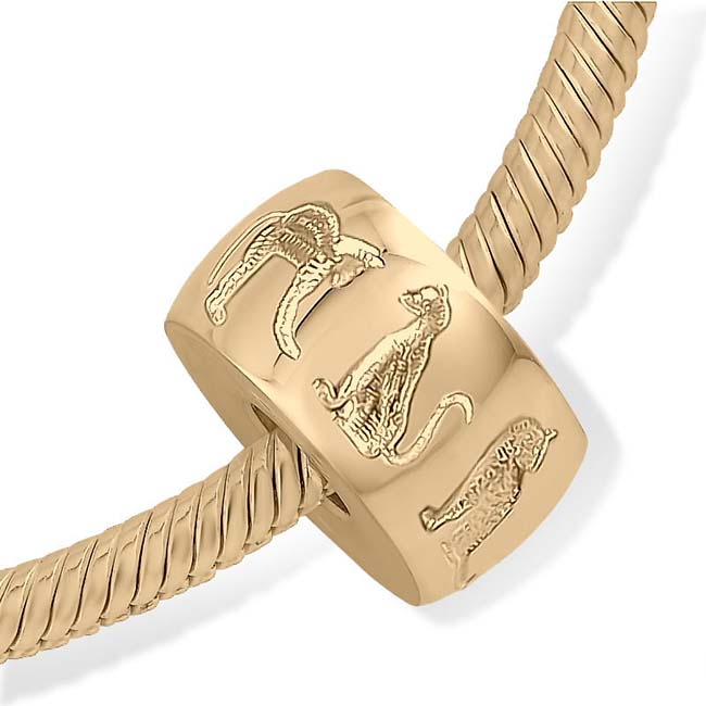 Asche Schmuck Strak Design Pet Memorial Perlenkätzchen Gold Asche Schmuck