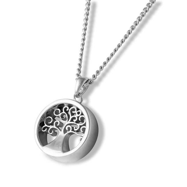 Asche Schmuck Aurora Baum des Lebens Silber Asche Schmuck