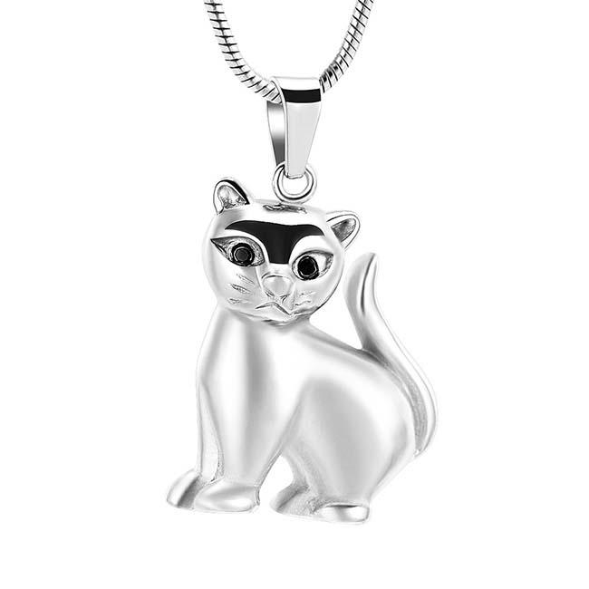 Asche Schmuck Kätzchen Silber, inklusive Schlangecolliere Asche Schmuck
