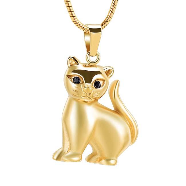 Asche Schmuck Kätzchen Gold, inklusive Schlangecolliere Asche Schmuck