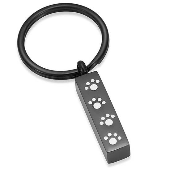 Schlüsselbund mit Ascheziel Rohr Pfote – Schwarz Asche Schmuck
