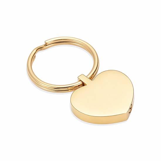 Schlüsselbund mit Ascheziel Herz Gold Asche Schmuck