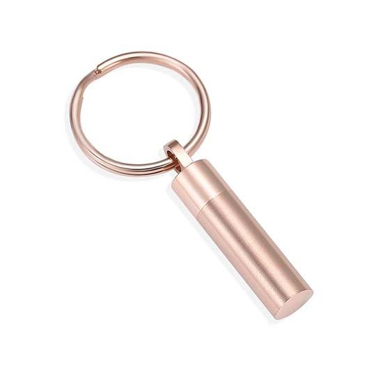 Schlüsselbund mit Ascheziel Rohr Rosagold Asche Schmuck