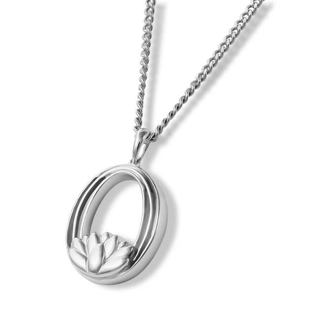 Aschenanhänger Aurora Lotusblume Silber Asche Anhänger Blume