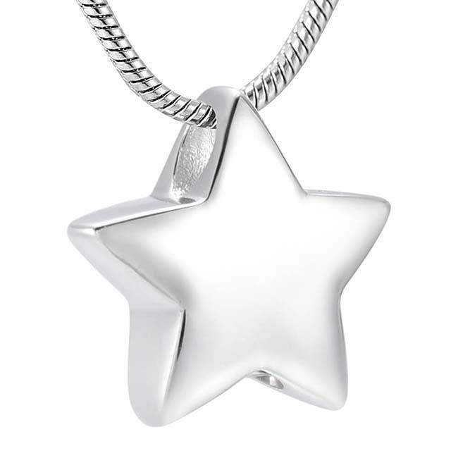 RVS Achsbügel Süßer kleiner Stern, inklusive Colliere Asche Schmuck