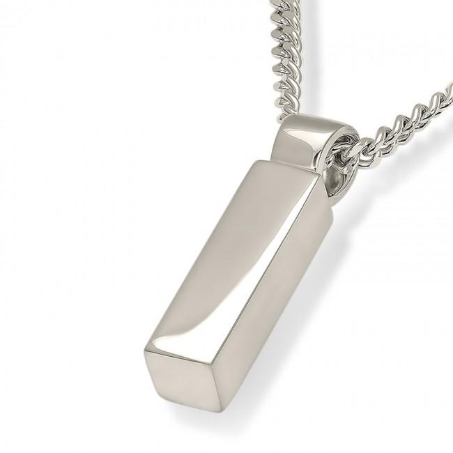 Aschenanhänger Rundrohr – Glänzendes Silber Asche Schmuck