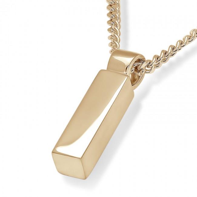 Aschenanhänger Rundrohr – Glänzendes Gold Asche Schmuck