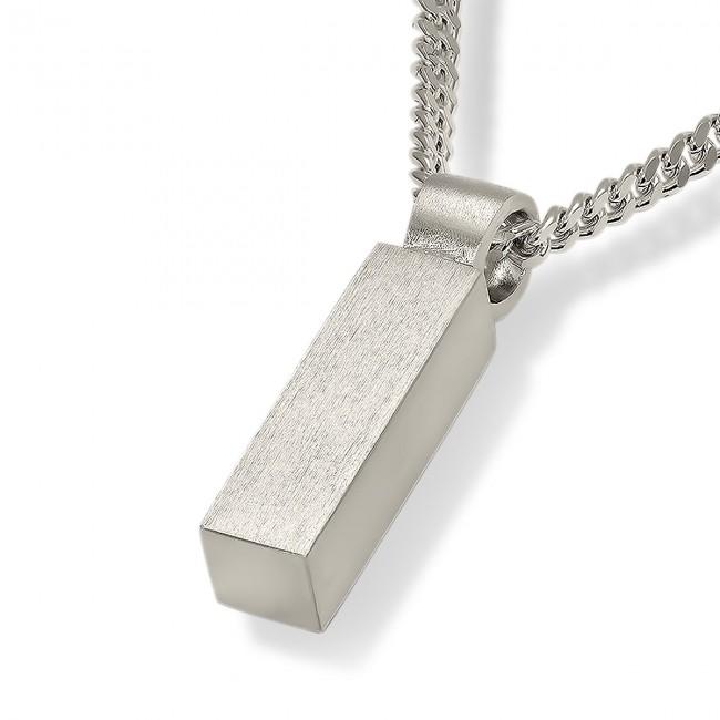 Aschenanhänger Quadratische Röhre – Silber Asche Schmuck