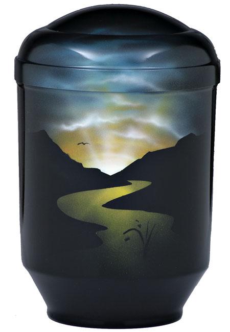 Design Urne Fluss in der Nacht (4,0 Liter) Edelstahl Urnen