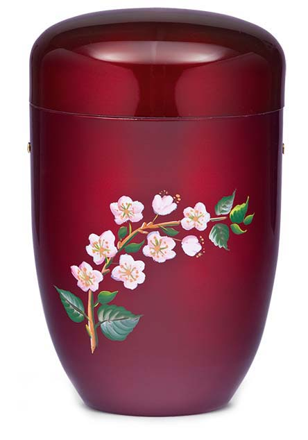 Design Urne Blühende Blüte (4,0 Liter) Edelstahl Urnen