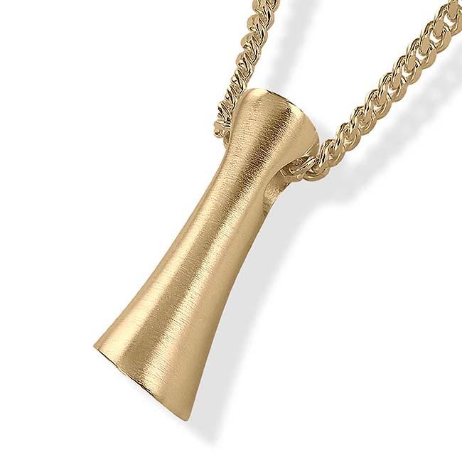 Asche Schmuck Gerade Gold, inklusive Colliere Asche Schmuck