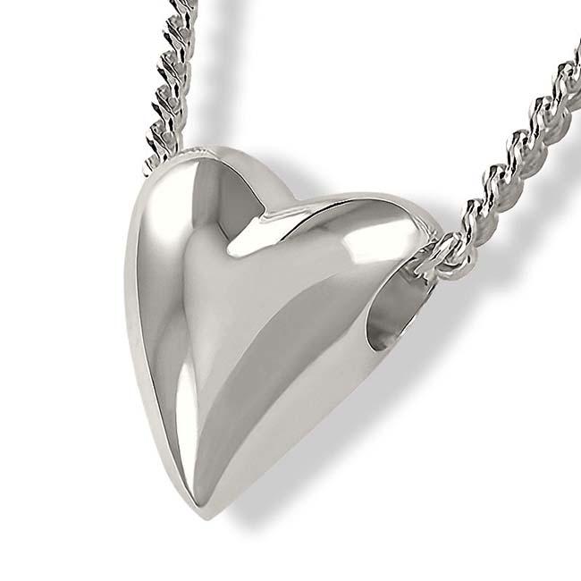Achsbügel Großes Herz Silber Asche Schmuck